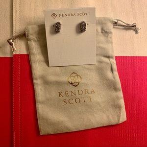 Kendra Scott Betty Silver Stud Earrings in Drusy
